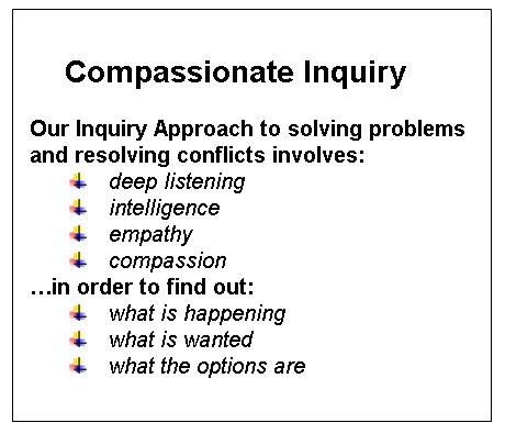 Compassionate Inquiry Text Box