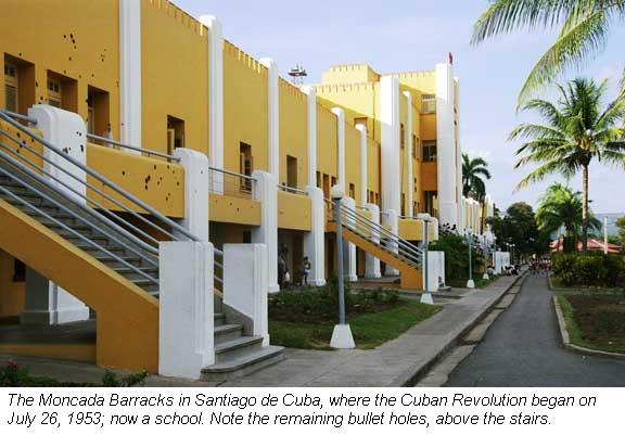 The Moncada Barracks in Santiago de Cuba