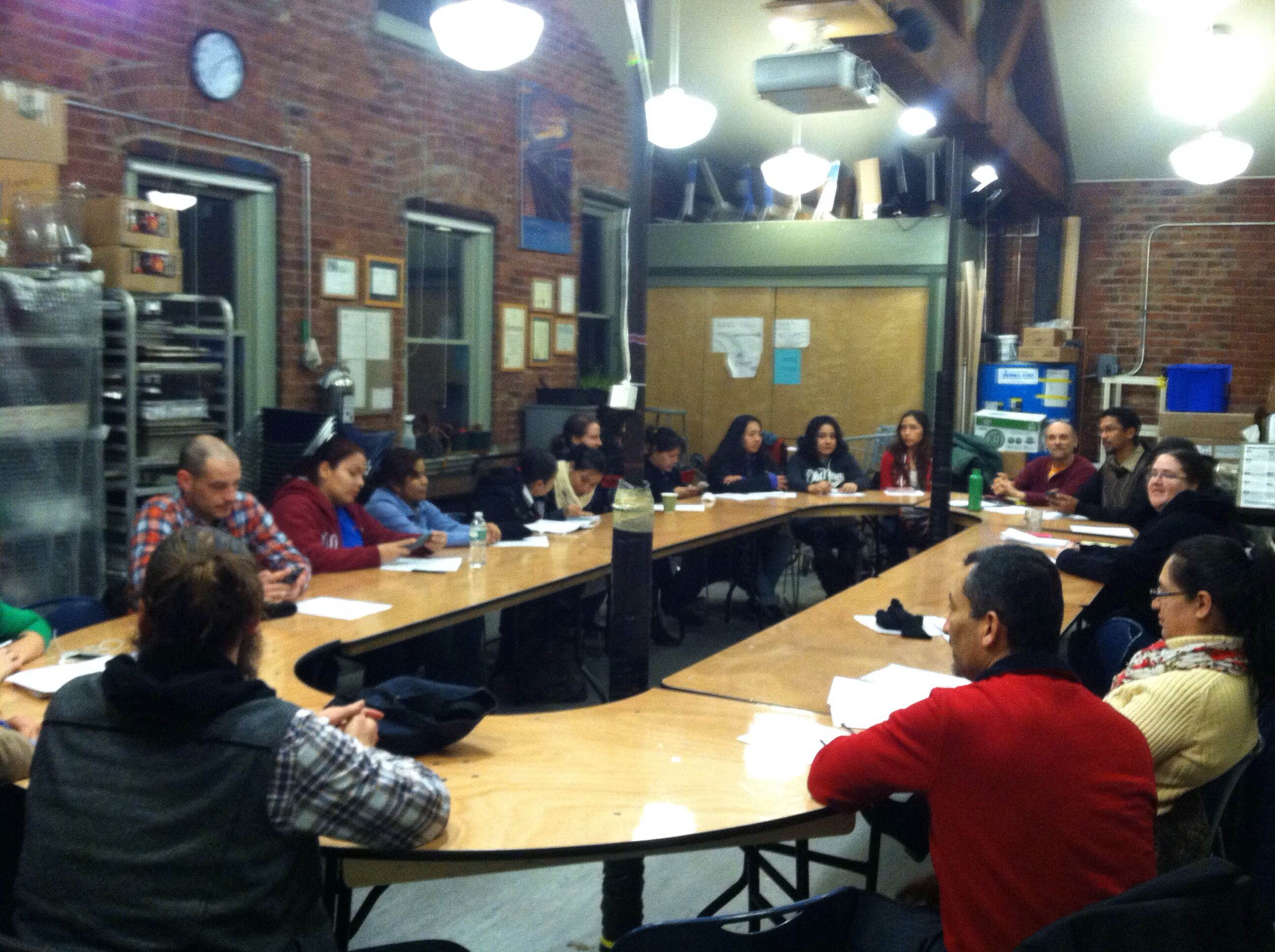 Meeting of NYC co-ops at Park Slope Food Co-operative