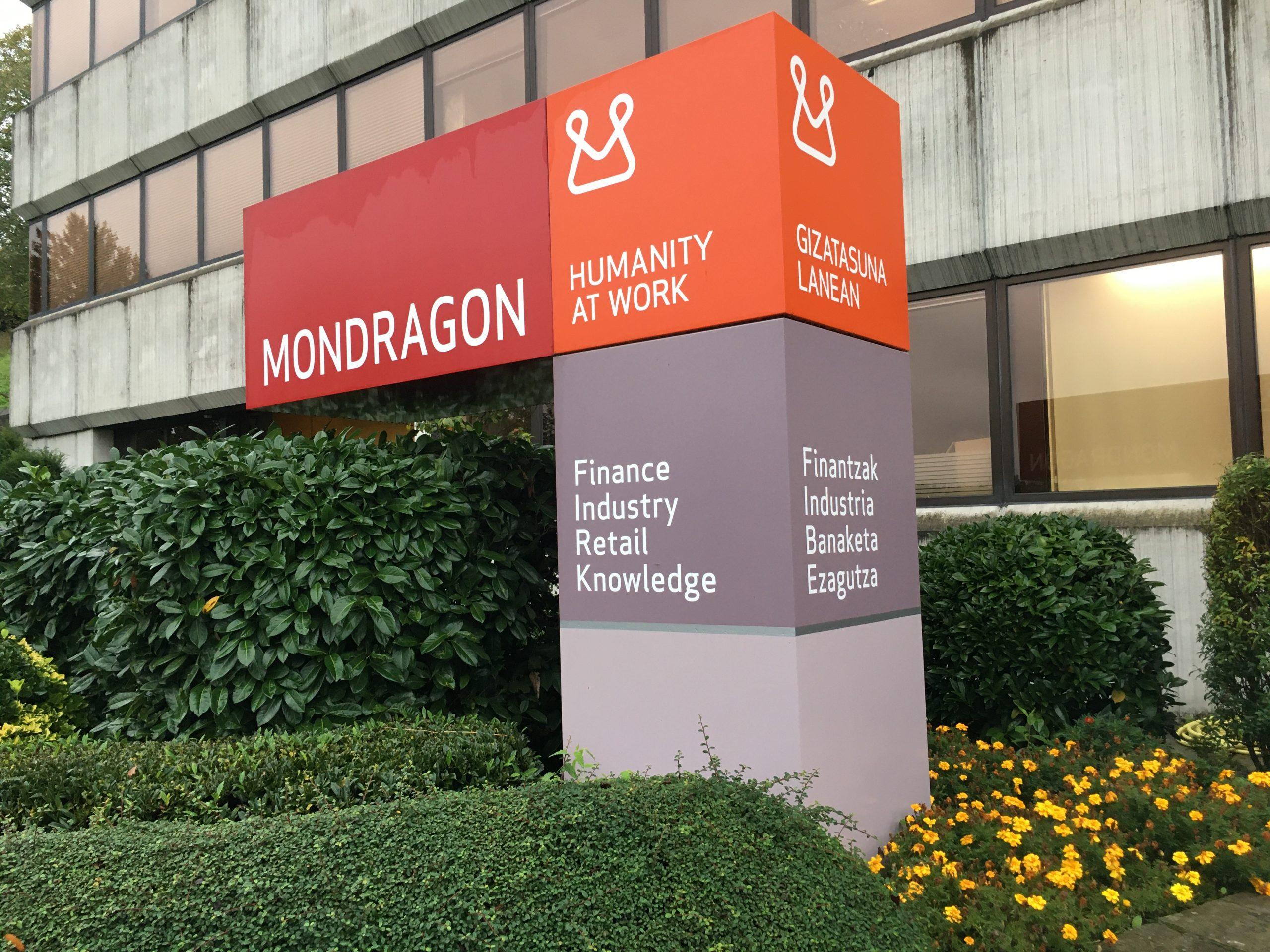 Sign at Mondragon Cooperative Corporation.