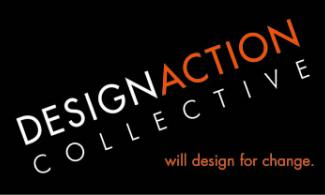 "Design Action Collective logo. Tagline reads, ""will design for change."""