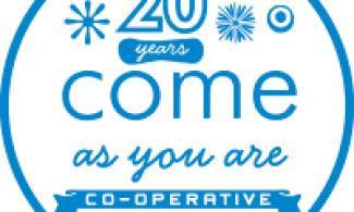 come as you are co-operative logo.