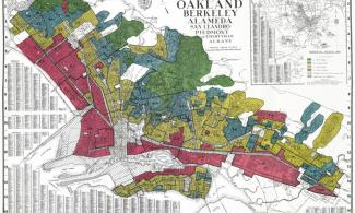 Historical map of Oakland's redlining districts.