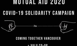 Mutual Aid 2020 poster from VALU CO-OP.