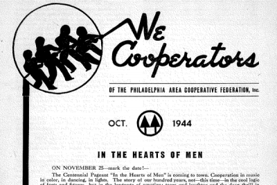Philadelphia Area Cooperativ e Federation newsletter, 1944.